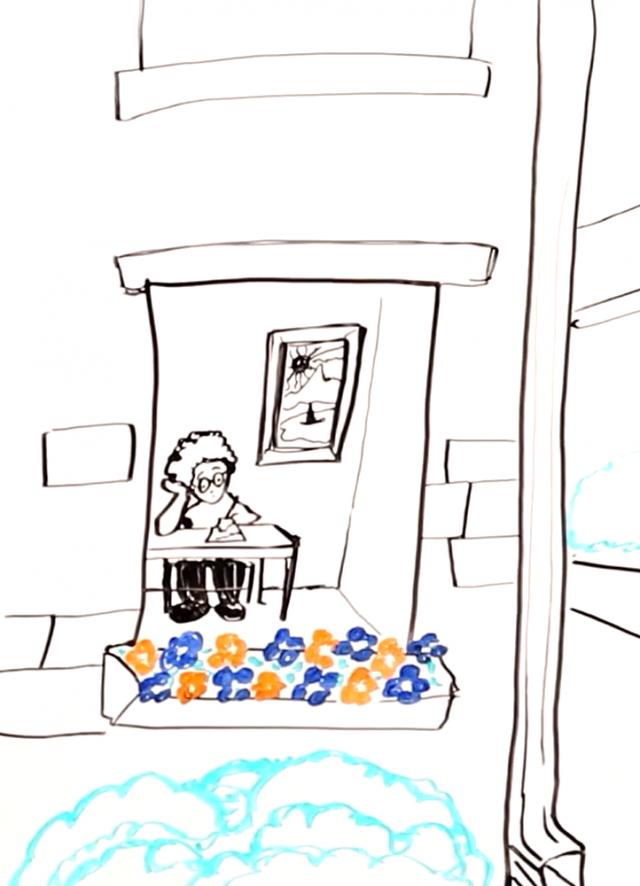 retiree (drawing)