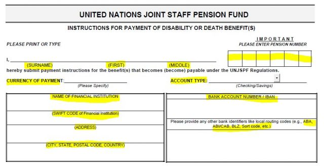 United Nations Joint Staff Pension Fund Pens E2 Tutorial